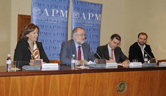 Crespo, González Urbaneja, Canalda y Hernández Martín. Fotos: Elena Hidalgo / APM