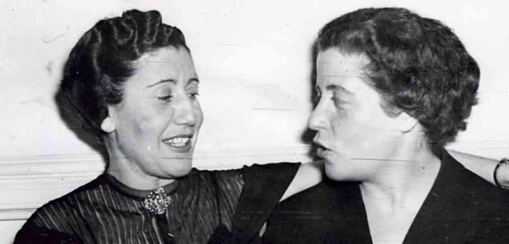 Josefina Carabias (izq.) y Pilar Narvión. Foto: Archivo personal de Pilar Narvión, publicada en Rtve.es