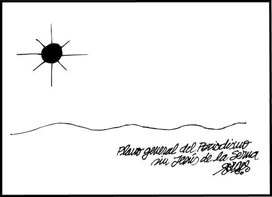 Viñeta de Forges dedicada a De la Serna, publicada en 'El País'