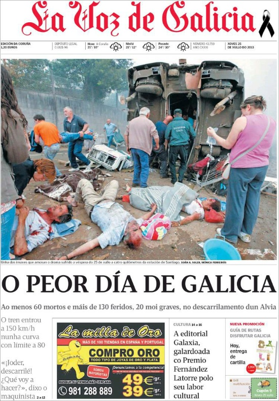 Las Fotos Del Accidente De Santiago De La Voz De Galicia Fueron Deontológicamente Correctas Apm