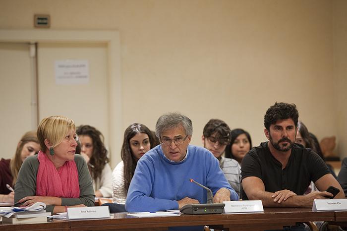Ana Alonso, Nemesio Rodríguez y Hernán Zin. Foto: Pablo Vázquez / APM