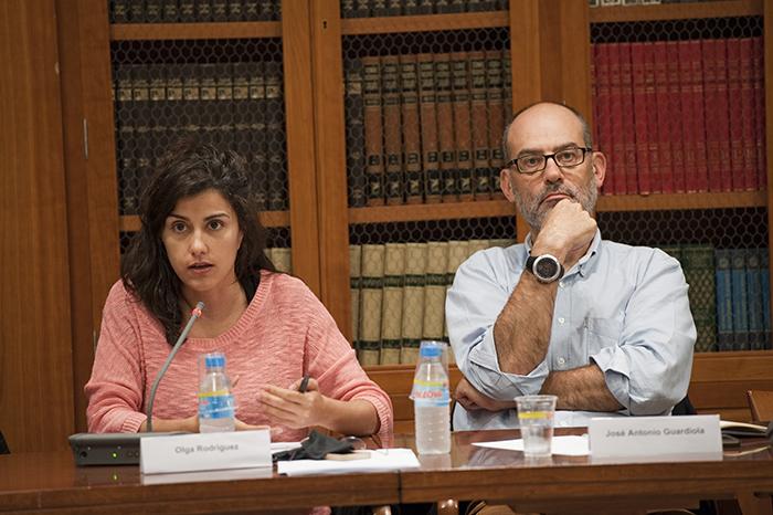 Olga Rodríguez y José Antonio Guardiola. Foto: Pablo Vázquez / APM