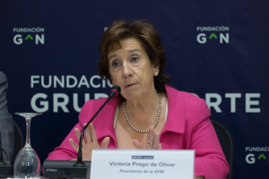 Victoria Prego, en su intervención en el acto de la Fundación Grupo Norte. Foto Elena Hidalgo / APM