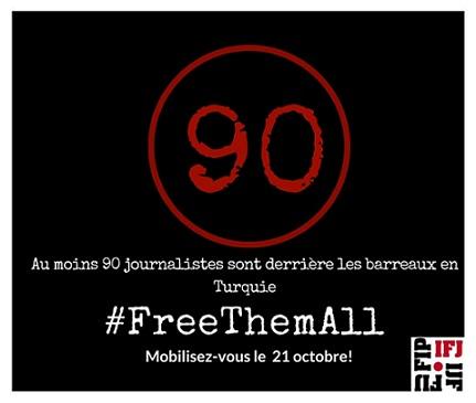 La FAPE pide a sus socios solidaridad con los periodistas turcos