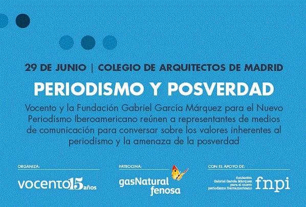 Vocento y la FNPI organizan una jornada sobre 'Periodismo y posverdad' el 29 de junio
