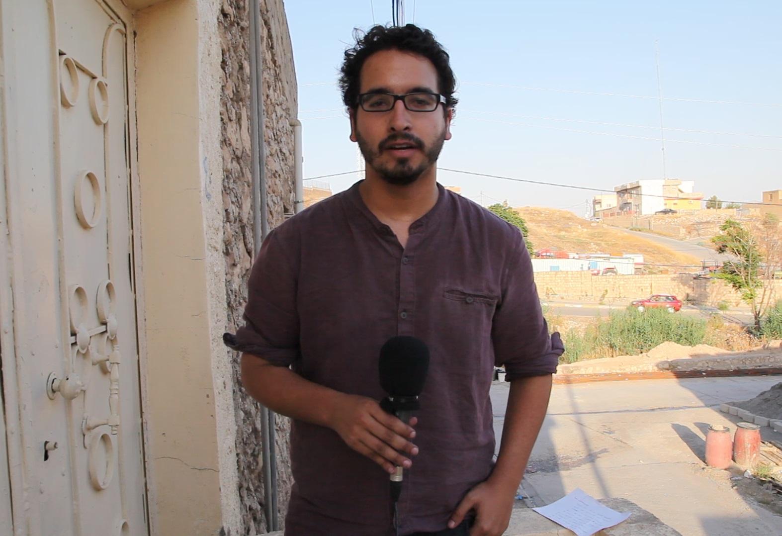 El corresponsal de 'El Mundo' Francisco Carrión recibe el VI Premio Internacional de Periodismo 'Colombine' el 27 de octubre