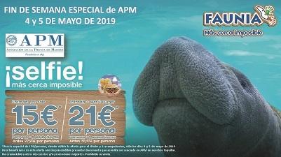 Socios APM: entradas de Faunia por 15 euros el 4 y 5 de mayo