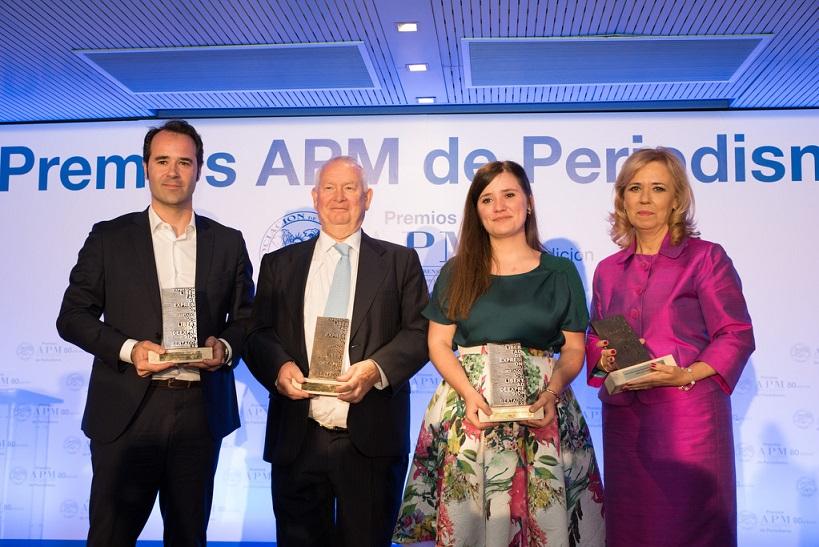 Mariano Guindal, Javier Chicote, María José Escalera y Blanca Pou recogen los Premios APM de Periodismo 2018