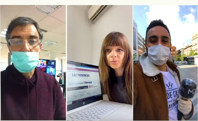 'Gracias, periodistas', un homenaje a los profesionales que cubren la pandemia del coronavirus