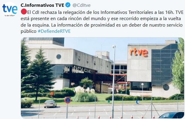 La dirección de RTVE anuncia a los sindicatos que la información territorial está garantizada