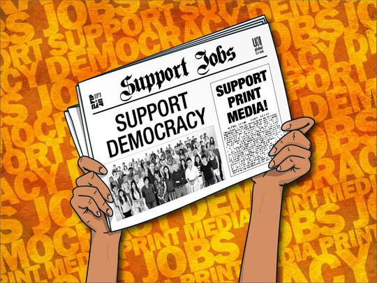 La FAPE se une a la campaña de los sindicatos mundiales para garantizar el futuro del periodismo