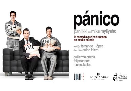 Socios APM: Entradas a 12 euros para la comedia 'Pánico' en Teatros Luchana el 13 y 14 de marzo
