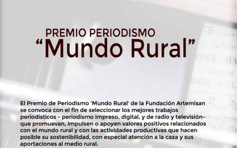 Convocado el I Premio de Periodismo 'Mundo Rural'