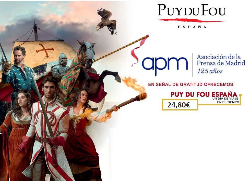 Socios APM: entradas a 24,80 euros para visitar Puy du Fou España