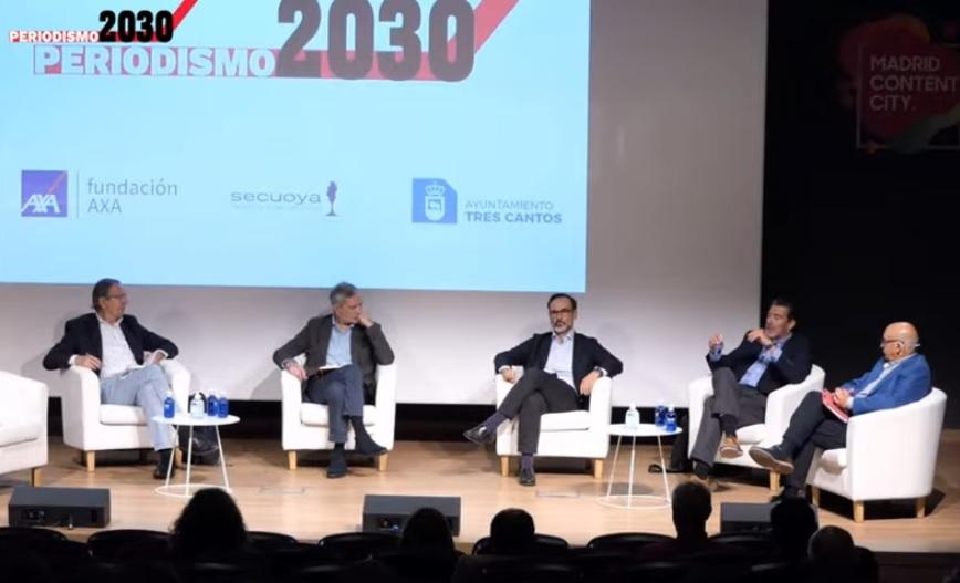 El presidente de la APM participa en un debate sobre las 'fake news', junto con José Antonio Vera, Javier García Vila, Julián Quirós y Fernando Garea.