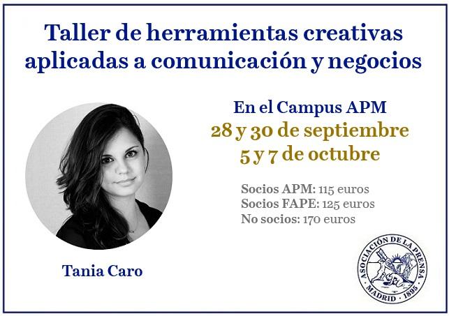 Taller de herramientas creativas aplicadas a comunicación y negocios