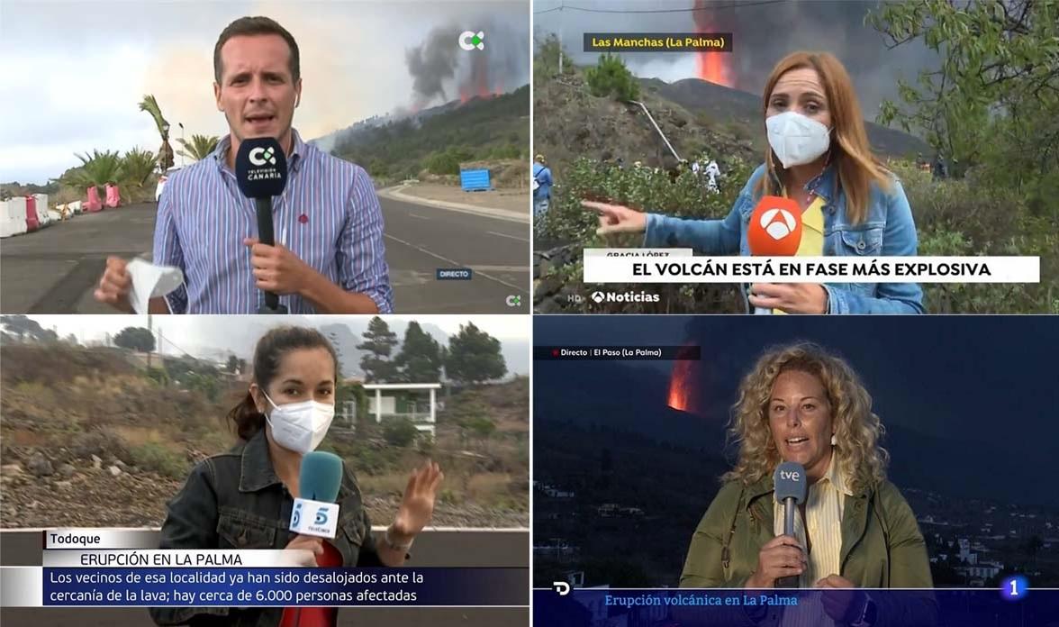 Las asociaciones canarias de periodistas reivindican igualdad de trato para cubrir la erupción del volcán de La Palma