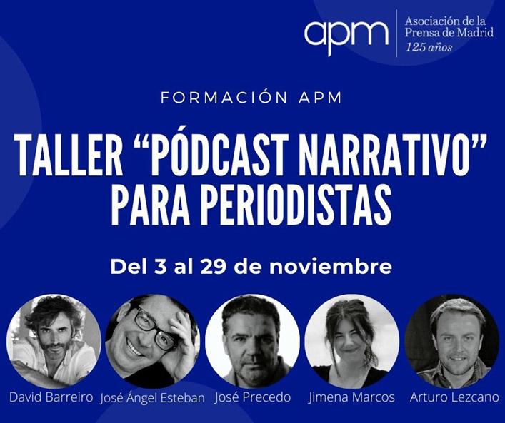 Taller de 'Pódcast narrativo' para periodistas